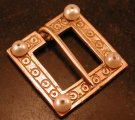 Square Ring Brooch with Pearls