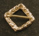 Small square ring brooch